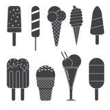 Ice Cream Icons Stock Photos