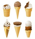 Ice cream icons Stock Photography
