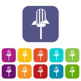 Ice Cream icons set Royalty Free Stock Photography