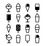 Ice Cream Icons Set on White Background. Vector Stock Photo