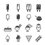 Ice cream Icons Royalty Free Stock Photo