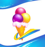 Ice cream  illustration Royalty Free Stock Photo