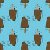 Ice cream  illustration. Ice cream. Hand drawn stock illustration. Seamless background pattern Royalty Free Stock Photography