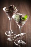 Ice Cream In Glasses Stock Photo