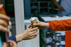 Ice Cream on the Island at Seopjikoji. Jeju, South Korea Stock Photography