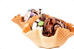 Ice cream isolated Royalty Free Stock Images