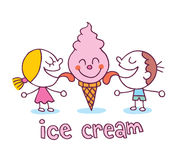 Ice cream kids Stock Photos