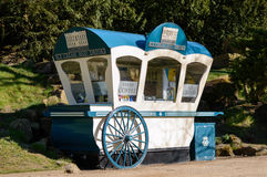 Ice cream kiosk hut in gardens of Chatsworth House Stock Photos