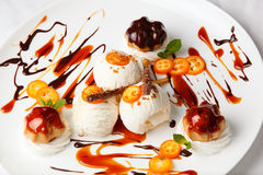 Delicious Dessert With Fried Ice Cream Stock Photo - Image: 39821586