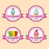 Ice cream label set Royalty Free Stock Images
