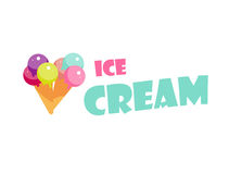 Ice cream label Royalty Free Stock Images