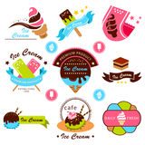 Ice cream label Stock Images