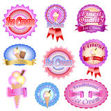 Ice Cream Labels Royalty Free Stock Images