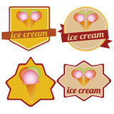 Ice cream labels Royalty Free Stock Photography