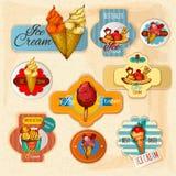 Ice Cream Labels Stock Photo