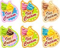 Ice cream labels Stock Photos