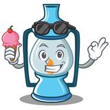 With ice cream lantern character cartoon style. Vector illustration Royalty Free Stock Images