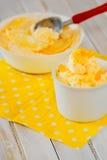 Ice cream with lemon peel Stock Photos