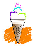 Ice cream line art Stock Photography