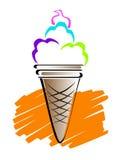 Ice cream line art Stock Photography