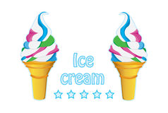 Ice cream. Logo of ice cream that can be used in advertising Royalty Free Stock Photos