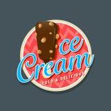 Ice cream logo Royalty Free Stock Photography