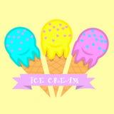 Ice cream logo. E illustrartion Stock Photos