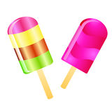 Ice cream lolly background Stock Images