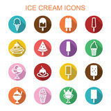 Ice cream long shadow icons Stock Image