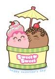 Ice-cream love Royalty Free Stock Photo