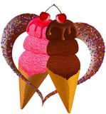 Ice cream in love Stock Photo