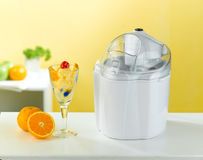 Ice cream maker tool in the kitchen interior  Stock Image