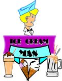 Ice cream man Royalty Free Stock Photos