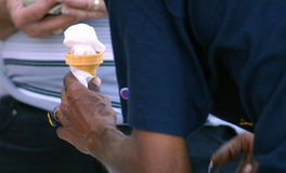 Ice cream man stock image