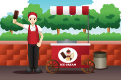Ice cream man Stock Images