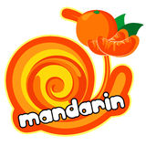 Ice cream mandarin Stock Image
