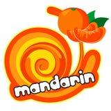 Ice cream mandarin Stock Image