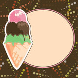 Ice Cream Menu Stock Images