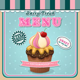 Ice cream menu cover Royalty Free Stock Image