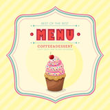 Ice cream menu cover Stock Photography