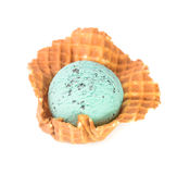 Ice cream. mint chocolate chip ice cream on a background Stock Image