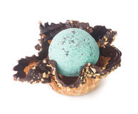 Ice cream. mint chocolate chip ice cream on a background Royalty Free Stock Images