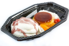 Ice cream mix pudding. Royalty Free Stock Photo