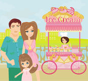 Ice Cream Mobile Shop Royalty Free Stock Image