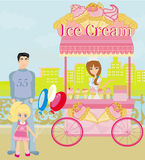 Ice Cream Mobile Shop Royalty Free Stock Photos