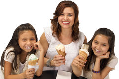 Ice cream with Mom Stock Photo