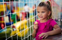 Ice cream is the most beautiful refreshment. stock image