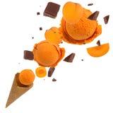 Ice cream in motion Stock Photos