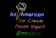 Ice Cream Neon Sign Royalty Free Stock Photos