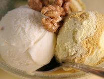 Ice cream with nut